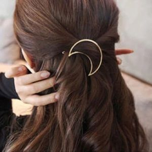 🎉 New Crescent Moon Gold Plated Hair Clip